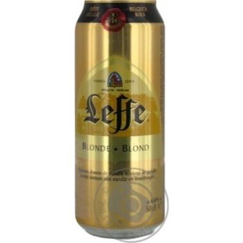 Пиво Leffe Blonde светлое 0,5л ж/б - купить, цены на Фуршет - фото 2