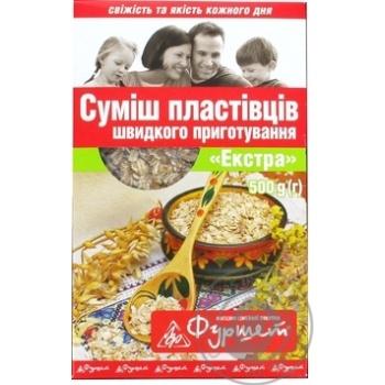 Смесь хлопьев Фуршет Экстра быстрого приготовления 500г Украина - купить, цены на Фуршет - фото 1