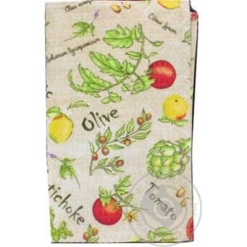 Полотенце кухонная Меломан вафельный 60x35cm - купить, цены на Фуршет - фото 1
