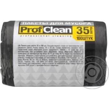 Пак для мусора Professional Cleaning 35л 100шт - купить, цены на Фуршет - фото 2
