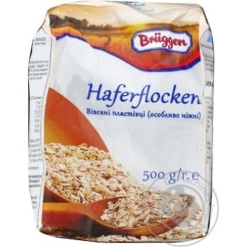 Хлопья овсяные Брюгген из цельного зерна 500г - купить, цены на Novus - фото 2