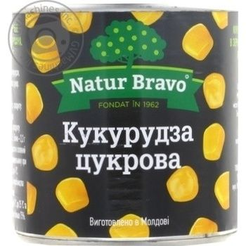 Corn Natur Bravo can 425ml