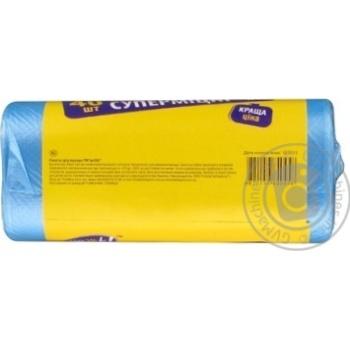 Пакети для мусора PrOK HDPE супердопомога 35л 40шт - купить, цены на Novus - фото 4