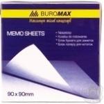Бумага для заметок Buromax BM.2245 непроклеенная цветная 90х90мм