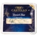 Cheese danablue Castello Danish blue cow milk with blue mold 50% 100g