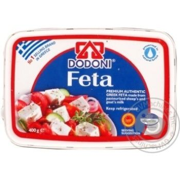 Сыр Додони фета в рассоле 43% 400г Греция