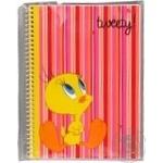 Блокнот Cool for school А5 48арк.Tweety бічна спіраль рожевийTW05273