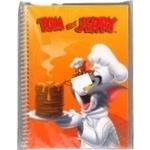 Блокнот А5,48ар. Cool for School Tom and Jerry кріплення блоку-бічна спіраль,обкладинка-пластик TJ02277-09