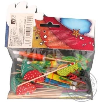 Набір Party House Шпильки фрукт,парасольки,дощ.шпаж 40шт - купити, ціни на CітіМаркет - фото 4