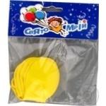 Кульки надувні жовтого кольору Свято Мрій 6шт