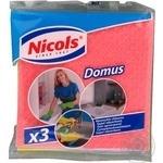 Серветки універсальні Nicols Domus 3шт
