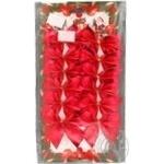 Банти декор Vivian червоні 6см 12шт