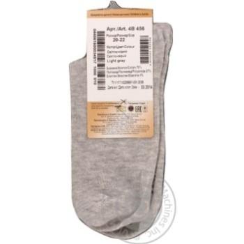Носки детские Дюна светло-серые размер 22-24 4В456 - купить, цены на Фуршет - фото 4