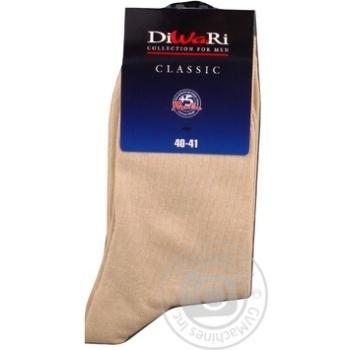 Шкарпетки чоловічі DiWaRi Classic 000 бежевий Р25 пар - купити, ціни на Novus - фото 2