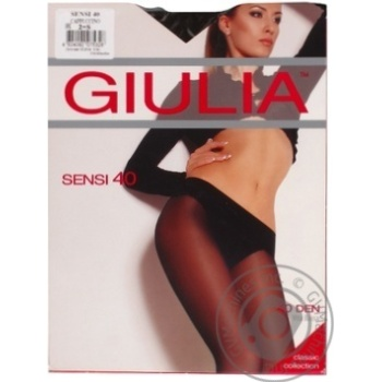 Колготки Giulia Sensi Vita Bassa жіночі заниженная талия cappuccino 40ден 2р - купить, цены на Фуршет - фото 1