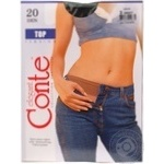 Tights Conte grafit polyamide for women 20den 3size