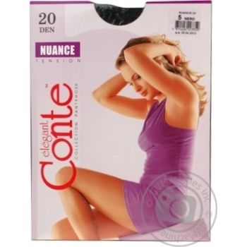 Tights Conte Nuance nero polyamide for women 20den 76g Belarus - buy, prices for CityMarket - photo 2