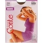 Tights Conte Nuance bronze polyamide for women 20den 4size