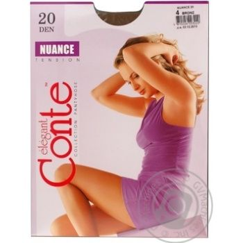 Tights Conte bronze polyamide for women 20den 4size