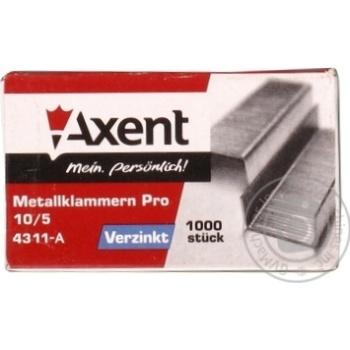 Скоби Axent PRO 10/5 1000шт - купити, ціни на Метро - фото 1