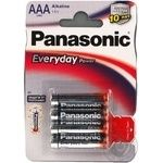 Батарейка Panasonic EVERYDAY POWER AAА блістер 4