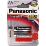 Батарейка Panasonic EVERYDAY POWER AA блістер 2