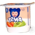 Cottage cheese Tema apple-carrot for 8+ months babies 4.2% 100g plastic cup Russia
