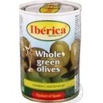 olive Iberica green with bone 420g can
