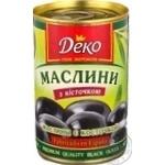 оливка Деко черное с косточкой 314мл железная банка Испания