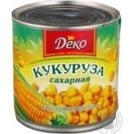 Vegetables corn Deko canned 420g can Ukraine