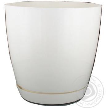 Горщик для квітів Тоскана Кругла-19 4,4л білий