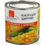 Vegetables corn maize Po-nashomu canned 425g Ukraine