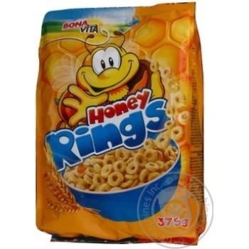 Сніданок сухий готовий Зернові кільця з медом Bona Vita 375г - купить, цены на Novus - фото 2