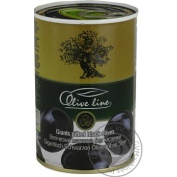Маслины черные Olive Line большие без косточки 420г - купить, цены на Novus - фото 1