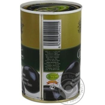 Маслины черные Olive Line большие без косточки 420г - купить, цены на Novus - фото 7