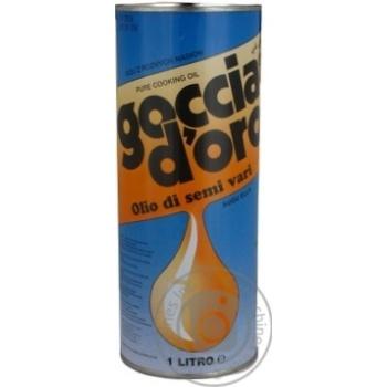 Олія соєва з додаванням олії соняшникової рафінована дезодорована Goccia D'oro 1л