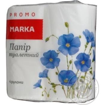 Бумага туалетная Marka Promo двухслойная 4шт - купить, цены на Novus - фото 2