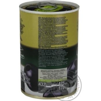 Маслины черные Olive Line большие без косточки 420г - купить, цены на Novus - фото 2