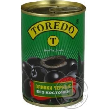 olive Toredo black pitted 300ml