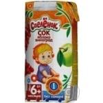 Сок Спелёнок Яблоко-Виноград восстановленный осветленный без сахара для детей с 6 месяцев 200мл тетрапакет Россия