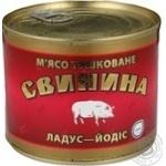 М'ясо тушковане Свинина ладус-йодис з/б 525г