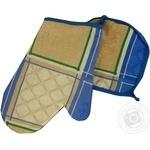 Комплект для кухні Perrini Прихватка та рукавичка блакитний