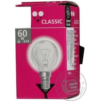 Лампа куля General Electric прозора 60Вт цоколь Е14 - купить, цены на Novus - фото 3
