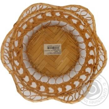 Хлібниця Екорамбус кругла різного плетіння Ф20*Н7  892621 - купить, цены на Novus - фото 2