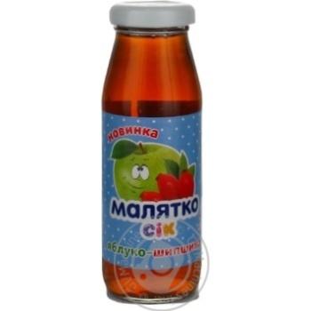 Сок Малятко яблоко-шиповник 175мл