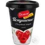 Десерт Дольче Искушение вишня 2.5% 330г пластиковый стакан Украина
