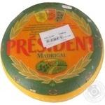 Сыр Президент Мадригал 50% головка