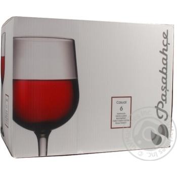 Набор бокалов для вина Pasabahce Casual 300мл 440160 6шт - купить, цены на Фуршет - фото 1