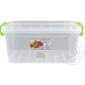 Контейнер харчовий Ал-Пластик Lux №5 2,8л - купити, ціни на Ашан - фото 2