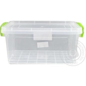 Контейнер харчовий Ал-Пластик Lux №5 2,8л - купити, ціни на Ашан - фото 3